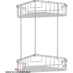 Полочка-решетка угловая 2-х ярусная 23/23 см FBS Ryna хром (RYN 006)