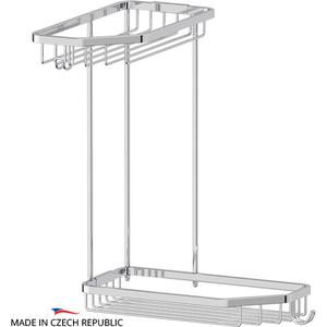 Полочка-решетка угловая 2-х ярусная 20/20 см FBS Ryna хром (RYN 013)