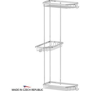 Полочка-решетка угловая 3-х ярусная 20/20/20 см FBS Ryna хром (RYN 014)