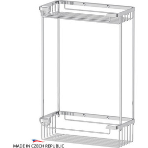 Полочка-решетка 2-х ярусная 20/20 см FBS Ryna хром (RYN 020) fast shipping jm01 020 2 5hp 180v dc motor for treadmill