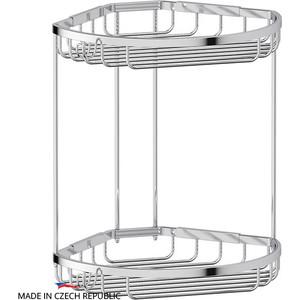 Полочка-решетка угловая 2-х ярусная 26/26 см FBS Ryna хром (RYN 026) недорго, оригинальная цена