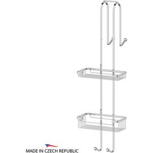 Штанга с полочками-решетками для душевой кабины FBS Ryna хром (RYN 028)
