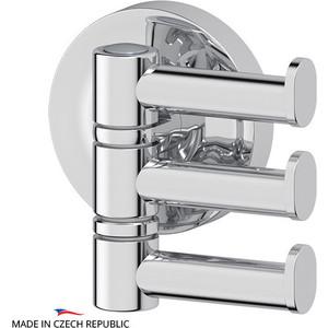 Крючок поворотный тройной Ellux Elegance хром (ELE 003) полотенцедержатель ellux elegance ele 024