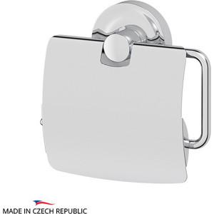 Держатель туалетной бумаги с крышкой Ellux Elegance хром (ELE 066) держатель туалетной бумаги ellux elegance хром ele 065