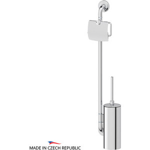 Штанга комбинированная для туалета Ellux Elegance хром (ELE 077) дозатор ellux elegance ele 010