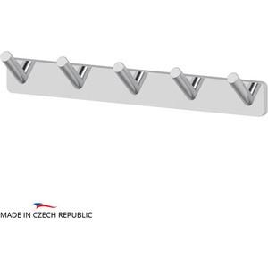 Планка с пятью крючками Ellux Avantgarde хром (AVA 002) держатель туалетной бумаги с крышкой и освежителя ellux avantgarde хром ava 069