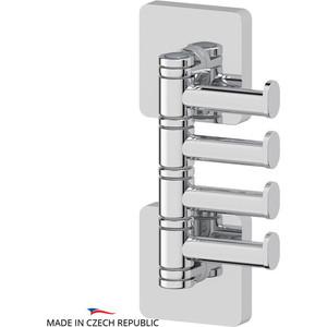 Крючок поворотный четверной Ellux Avantgarde хром (AVA 004) полотенцедержатель ellux avantgarde ava 028