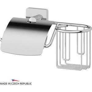 Держатель туалетной бумаги с крышкой и освежителя Ellux Avantgarde хром (AVA 069) держатель туалетной бумаги с крышкой ellux avantgarde хром ava 066