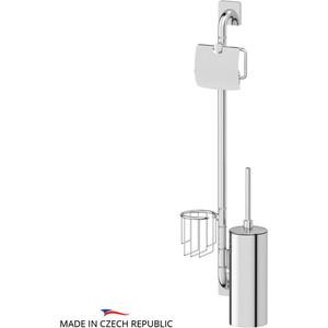 Штанга комбинированная для туалета Ellux Avantgarde хром (AVA 078) держатель туалетной бумаги с крышкой и освежителя ellux avantgarde хром ava 069