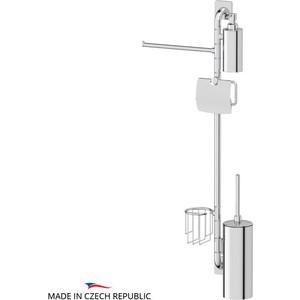 Штанга комбинированная для туалета с биде Ellux Avantgarde хром (AVA 079) держатель туалетной бумаги с крышкой и освежителя ellux avantgarde хром ava 069