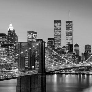 Фотообои W+G Manhattan Skyline at Night 8 частей 366x254 см (00957WG)