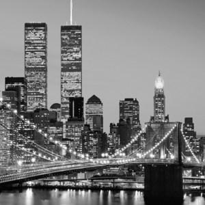 Фотообои W+G Manhattan Skyline at Night 4 части 183x254 см (00388WG)