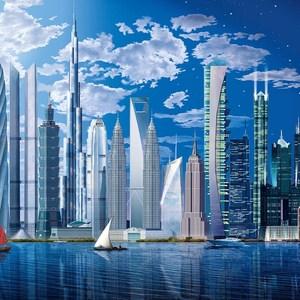 Фотообои W+G World's Tallest Buildings 8 частей 366 x 254 см (00120WG)
