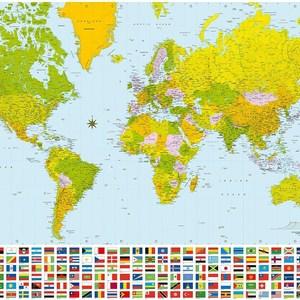 Фотообои W+G World Map 8 частей 366 x 254 см (00280WG)