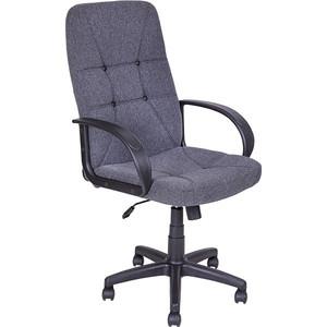 Кресло Алвест AV 114 PL (727) MK ткань 415 серая с черной ниткой