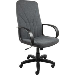 Кресло Алвест AV 101 PL (727) MK ткань 415 серая с черн. Ниткой