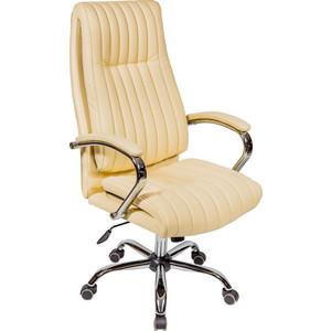Кресло Алвест AV 129 CH (04) МК экокожа 202 слоновая кость/ TW сетка 460 серебро