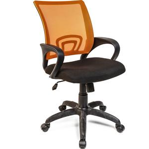 Кресло Алвест AV 214 PL (696) МК TW- сетка 455 черная/сетка 473 оранжевая