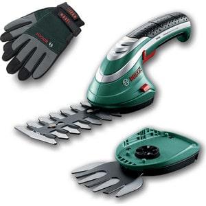 Подробнее о Аккумуляторные ножницы Bosch Isio + кусторез + перчатки кусторез ножницы для травы bosch isio [060083310g]