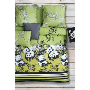 Комплект постельного белья Сова и Жаворонок Семейный, поплин, Зеленый чай, n70