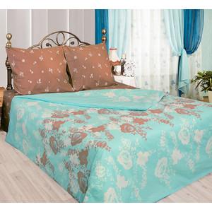 Комплект постельного белья Сова и Жаворонок Евро, бязь, трикотажная простынь на резинке, Карамель, n70