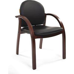 Офисное кресло Chairman 659 PU2001-12 черный матовый/тем.орех