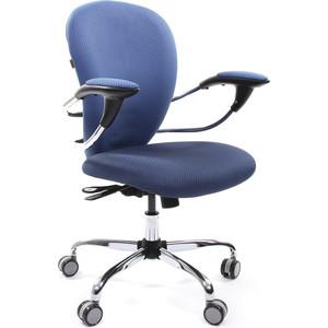 Офисное кресло Chairman 686 сид V398-87 синий/сп V398-85 голубой