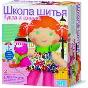 4M Школа шитья Кукла и котенок (00-02766)
