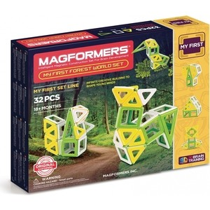 Магнитный конструктор Magformers My First Forest 32 set (702009) my first animals