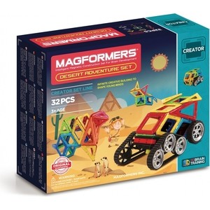 Магнитный конструктор Magformers Adventure Desert 32 set (703010) magformers tiny friends