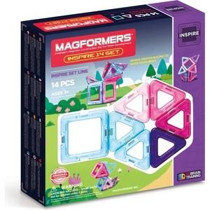 Магнитный конструктор Magformers 14 Pastelle set (704001) конструкторы magformers магнитный pastelle 14 63096
