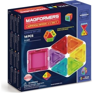 Магнитный конструктор Magformers Window Basic 14 set (714001) magformers window basic 14 set 714001