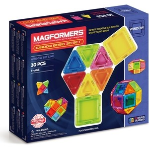Магнитный конструктор Magformers Window Basic 30 set (714002) magformers window basic 14 set 714001