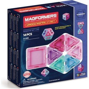 Магнитный конструктор Magformers Window Inspire 14 set (714003) magformers tiny friends