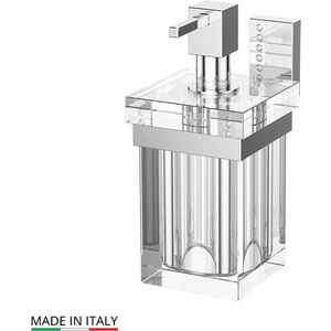 Держатель с емкостью для жидкого мыла Lineag Tiffany Lux хром - стразы (TIF 906) держатель со стаканом lineag tiffany хром tif 004