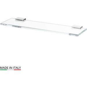 Полка стеклянная 40 см Lineag Tiffany Lux хром - стразы (TIF 910) полотенцедержатель 60 см lineag tiffany lux tif 909