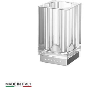 Стакан настольный Lineag Tiffany Lux UN хром - стразы (TIF 916) стойка комбинированная для биде и туалета lineag tiffany un хром tif 022
