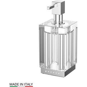Емкость для жидкого мыла настольная Lineag Tiffany Lux UN хром - стразы (TIF 918) стакан lineag tiffany un tif 016