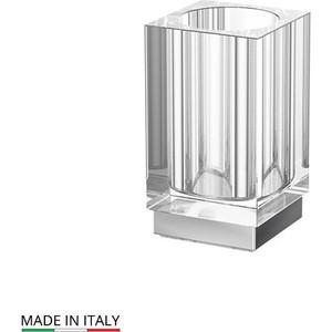 Стакан настольный Lineag Tiffany UN хром (TIF 016) стойка комбинированная для биде и туалета lineag tiffany un хром tif 022