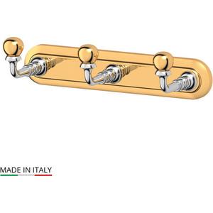 Планка с тремя крючками 3SC Stilmar хром/золото (STI 102) зеркало косметическое 3sc stilmar матовое золото sti 320