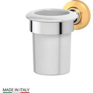Держатель со стаканом 3SC Stilmar хром/золото (STI 103) зеркало косметическое 3sc stilmar матовое золото sti 320