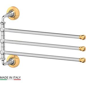 Держатель полотенец поворотный тройной 35 см 3SC Stilmar хром/золото (STI 111) 3sc stilmar хром sti 023