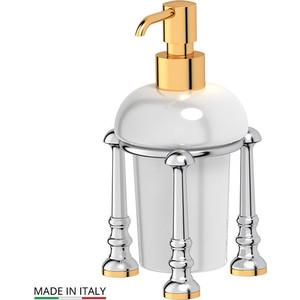 Емкость для жидкого мыла настольная 3SC Stilmar UN хром/золото (STI 129) зеркало косметическое 3sc stilmar матовое золото sti 320