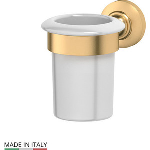 Держатель со стаканом 3SC Stilmar матовое золото (STI 303) держатель с мыльницей 3sc stilmar золото sti 204