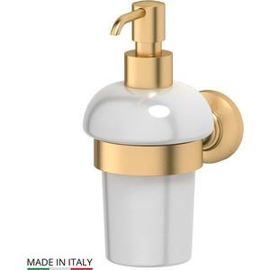 Держатель с емкостью для жидкого мыла 3SC Stilmar матовое золото (STI 305) держатель с мыльницей 3sc stilmar золото sti 204