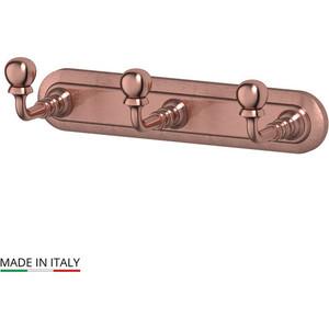 Планка с тремя крючками 3SC Stilmar античная медь (STI 602)
