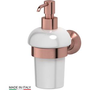 Держатель с емкостью для жидкого мыла 3SC Stilmar античная медь (STI 605) держатель полотенца 60 см 3sc stilmar античная медь sti 613