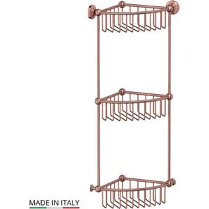 Полочка-решетка угловая 3-х ярусная 23 см 3SC Stilmar античная медь (STI 609) полочка решетка 31 см 3sc stilmar хром sti 007