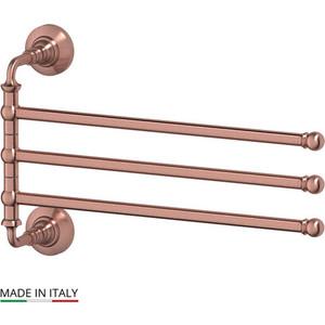 Держатель полотенец поворотный тройной 35 см 3SC Stilmar античная медь (STI 611) держатель полотенца 60 см 3sc stilmar античная медь sti 613