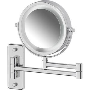 Косметическое зеркало двустороннее с подсветкой x3 Defesto Pro хром (DEF 102) косметическое зеркало двустороннее x2 sorcosa plain хром sor 002
